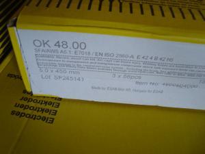 Esab Svetselektroder ok 48.00 5,0 mm hel kartong/18kg