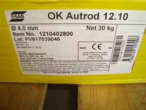 Esab Autorod 12.10  4,0mm 30 kg/rlr