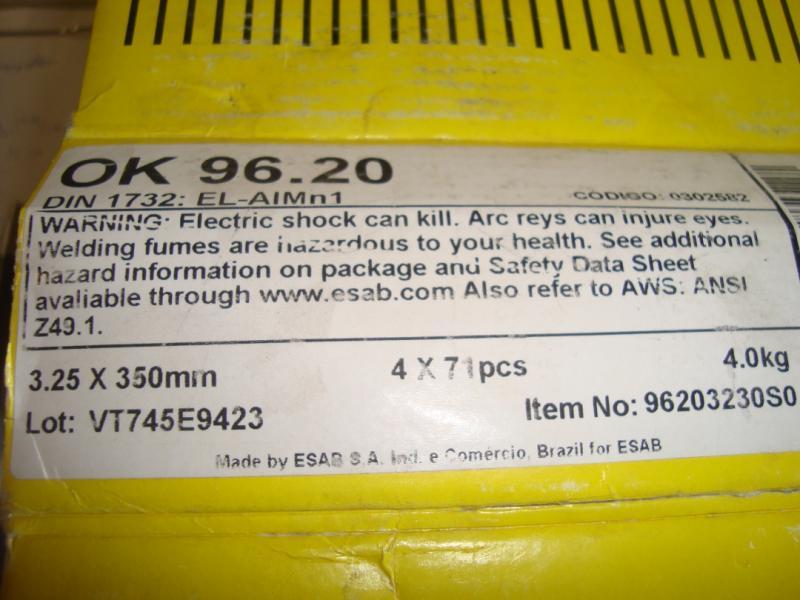 Esab 96,20 aluminium Lättsvetsad för svetsning av valsade svetsbara aluminiumlegeringar