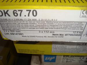 Esab Svetselektroder   OK 67.70 3,2mm 4,3kg/hylsa Överlegerad elektrod!