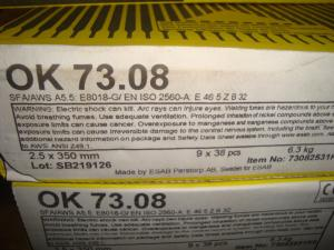 Esab Svetselektroder  ok 73.08 2,5 mm hel kartong 6,3kg