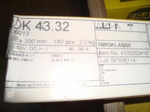 Esab Svetselektroder   OK 43.32 2mm 2kg/hylsa Lättsvetsad  elektrod för tunnplåt !