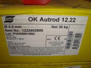 Esab Autorod 12.22  4,0mm 30 kg/rlr