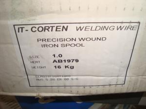 Svetstråd IT corten 1,0mm 16kg/rlr