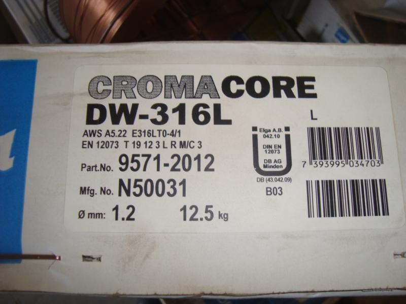 Elga Croma core DW-316L 1,2mm  12,5/kg/rlr Rostfritt!!