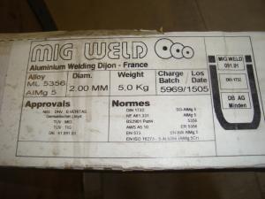 Mig Weld Aluminium tig tråd 2,0mm 5kg 5356