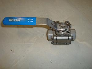 Kulventil 200 bar 25mm genomgång (Rostfritt)