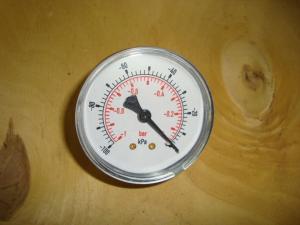Manometer  vacum till -1kg gänga bakåt