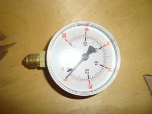 Manometer  vacum till -1kg gänga neråt
