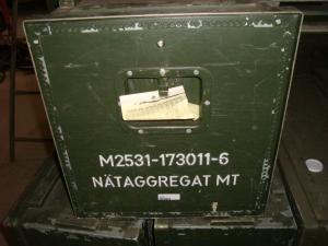 Nätaggregat i orginallåda från svenska försvaret!