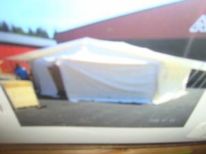 36 kvm tält från räddningsverket !