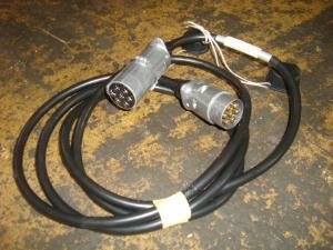 Komplett övergång för belysning !  Från trailerkoppling till vanlig släpvagnskontakt! 24/12v