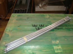 Tillbehör till 12man /tält  Komplett sätt med pinnar i aluminium!