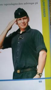 Blå skjorta M 48 Marinen