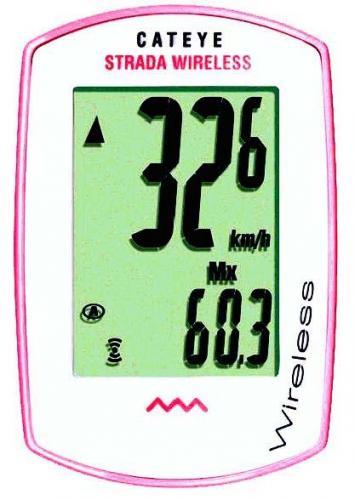 Cateye Strada CC-RD300W (trådlös) rosa/vit