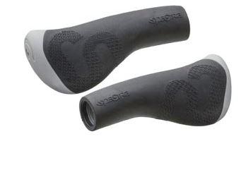 Ergonomiska handtag 130 mm Comfo svart/grå