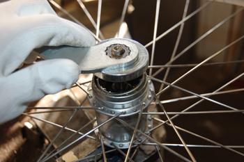 justera hjullager cykel