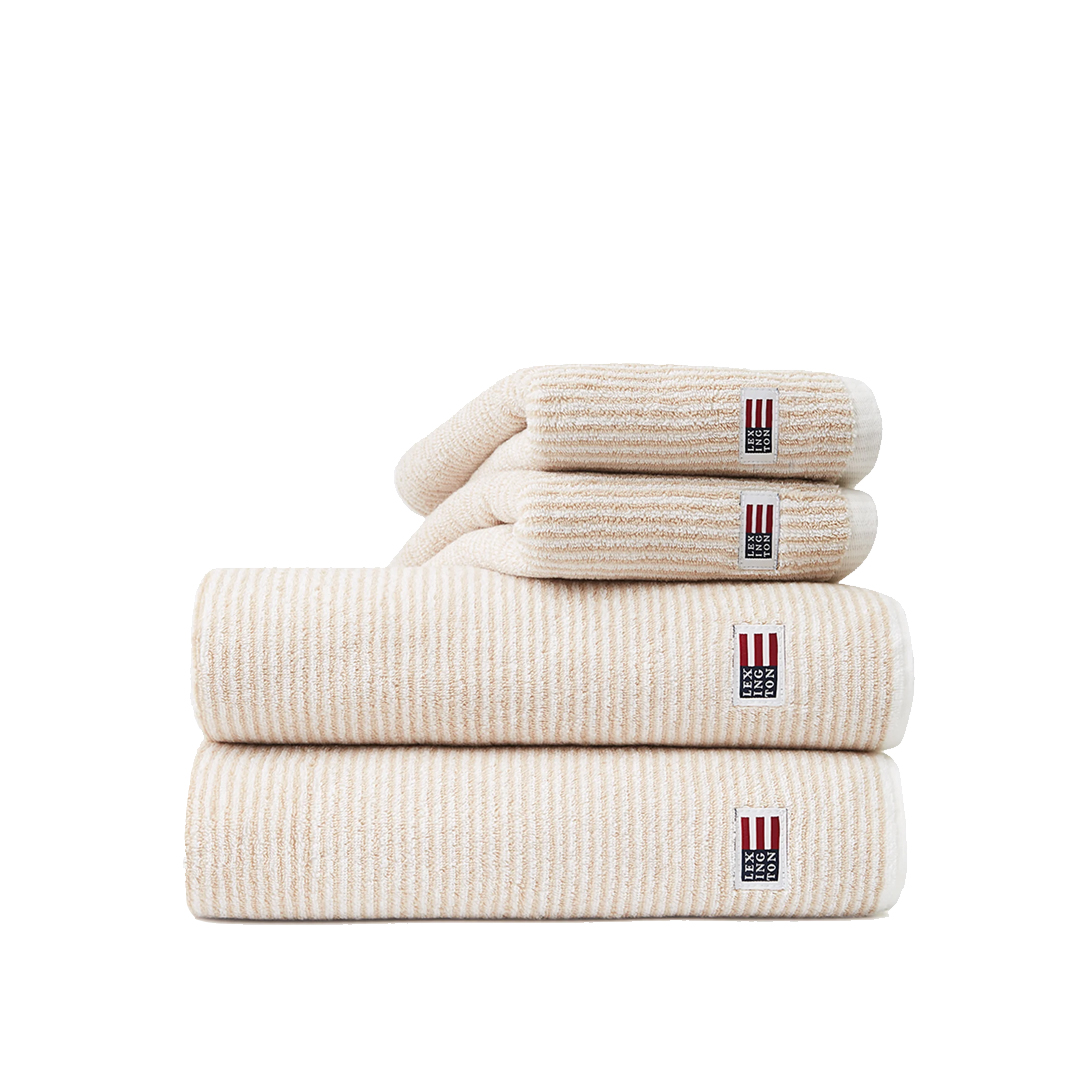 Original Towel White/Tan Stripe