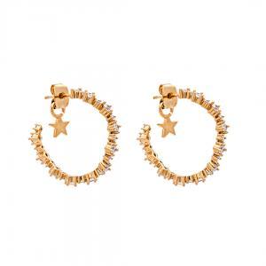 Capella Hoops Earrings - Crystal Gold