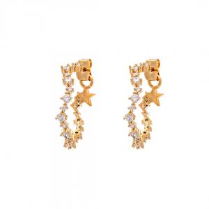 Capella Hoops Earrings - Crystal Gold