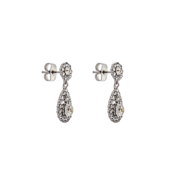 Petite Sofia Earrings - Crystal
