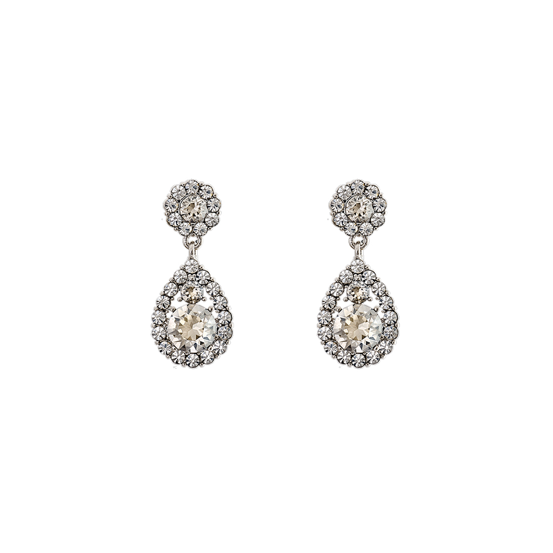 Petite Sofia Earrings - Crystal