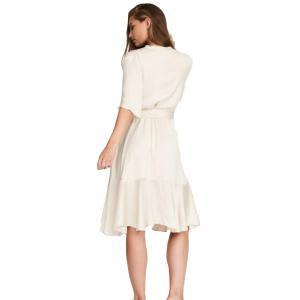 Nocco Cream Satin Dress