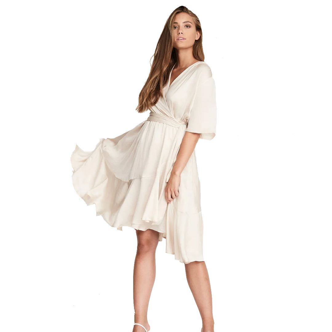 Nocco Cream Satin Dress
