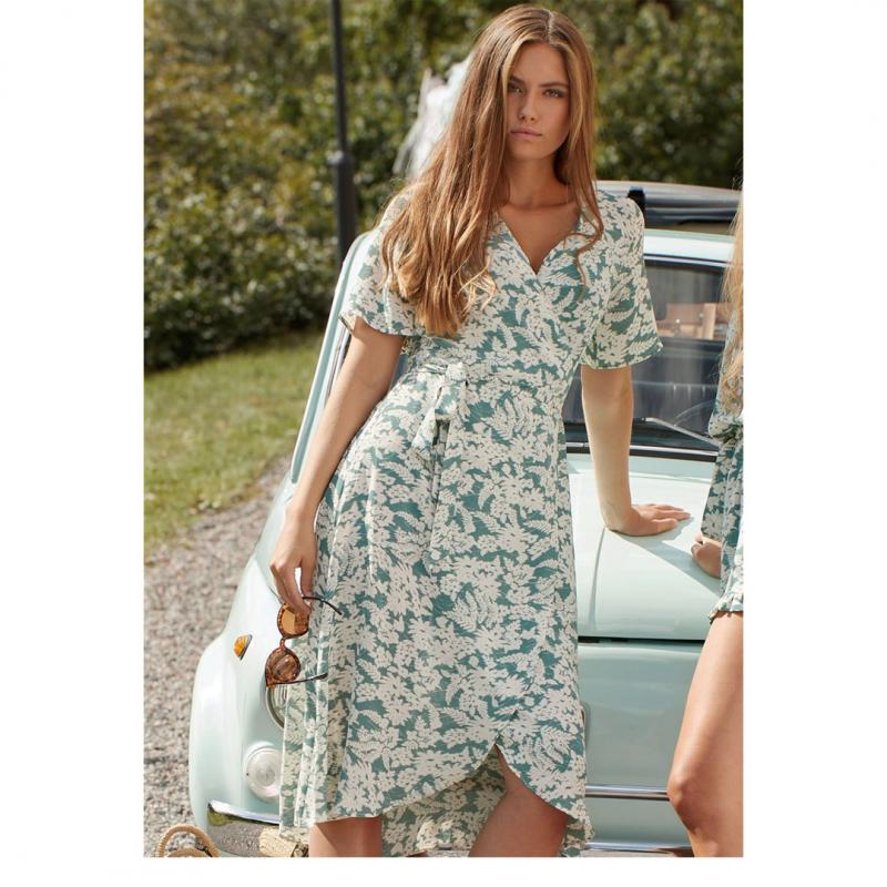 Mimmi Dress Turquoise Flower Print