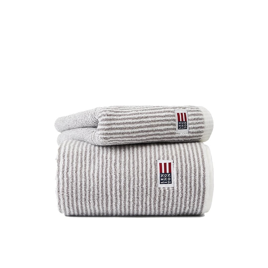 Original Towel White/Gray Stripe