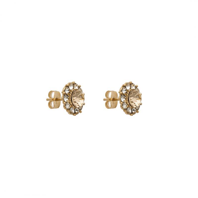 Miss Sofia Earrings - Light Silk Gold