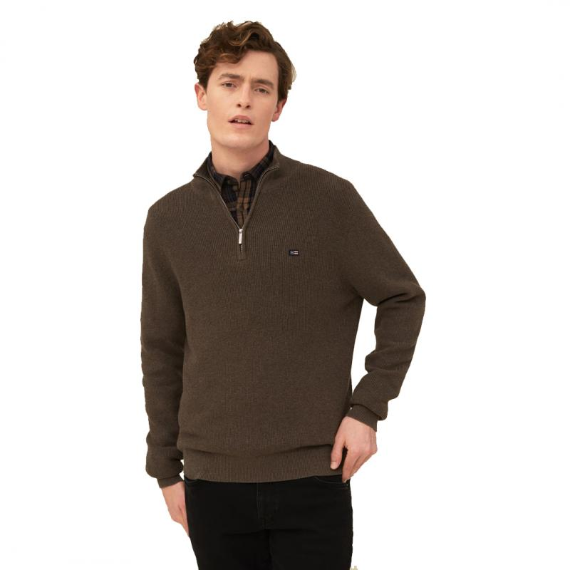 Clay Organic Cotton Half Zip