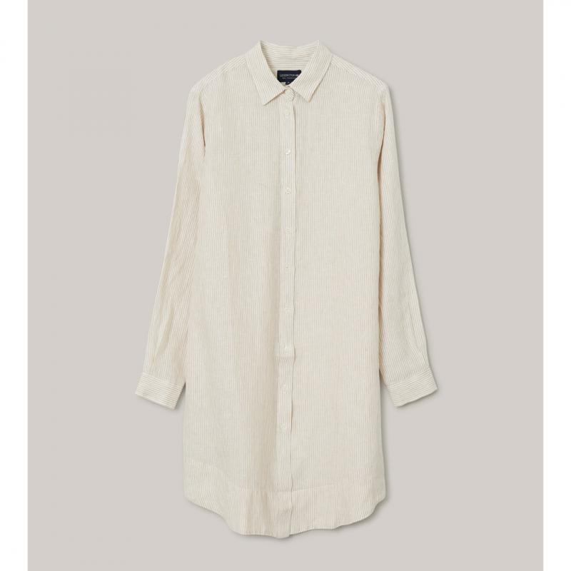 Isa Linen Shirt Dress