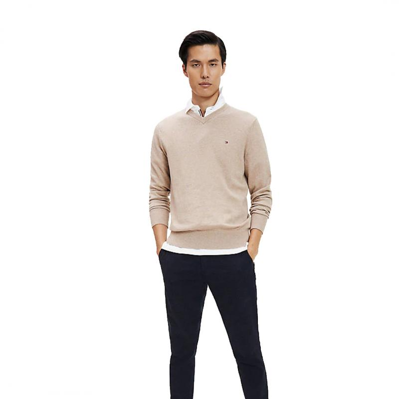 Pima Cotton Cashmere V-neck