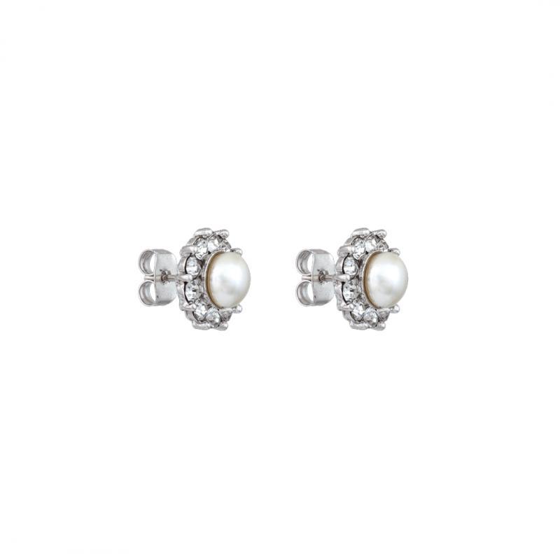 Miss Sofia Pearl Earrings - Creme