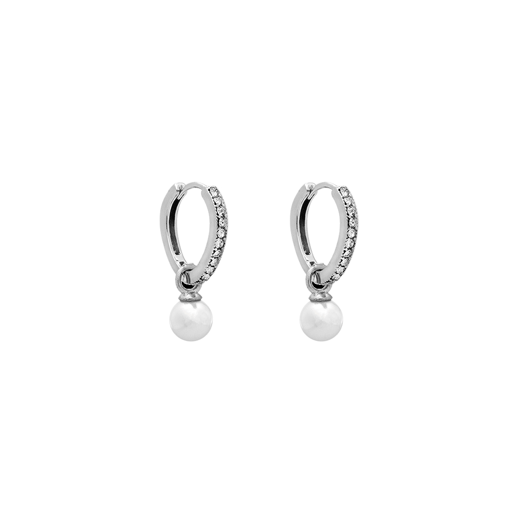 Petite Kennedy Hoops Earrings - Ivory