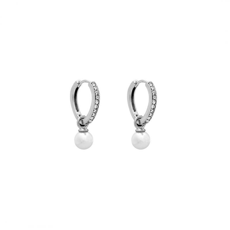 Petite Kennedy Hoops Earrings - Ivory