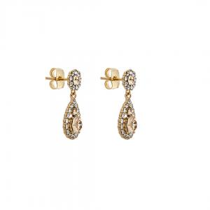 Petite Sofia Earrings - Light Silk Gold