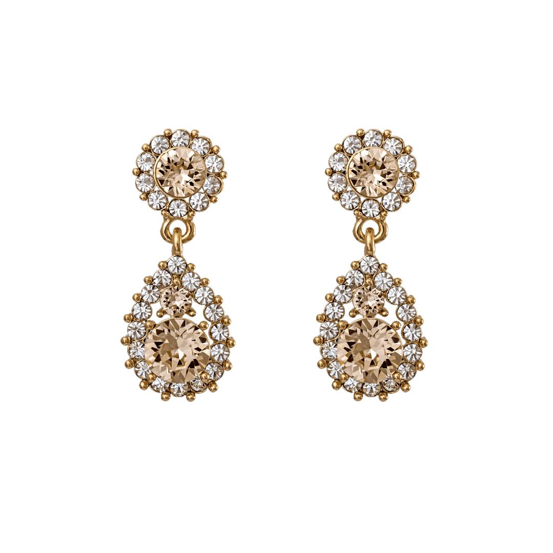 Sofia Earrings - Light Silk Gold