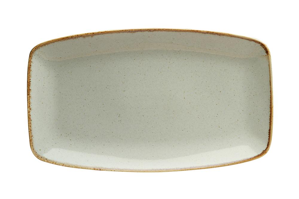 Grey Rectangular Platter 31X18Cm