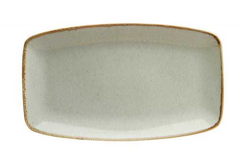 Rektangulär tallrik 31 x 18 cm Ljusgrå