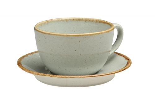 Gray Tea Cup And Saucer
