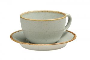 Gray Tea Cup And Saucer