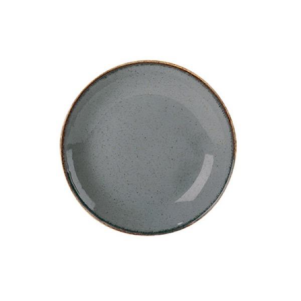 Tallrik coupe 18 cm Mörkgrå