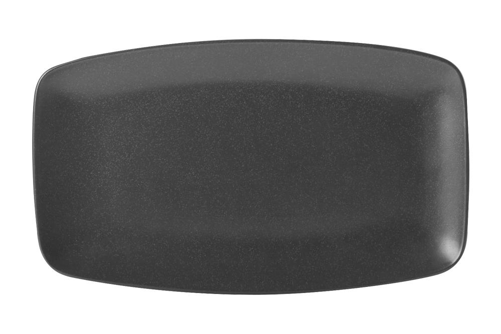 Black Rectangular Platter 31X18Cm