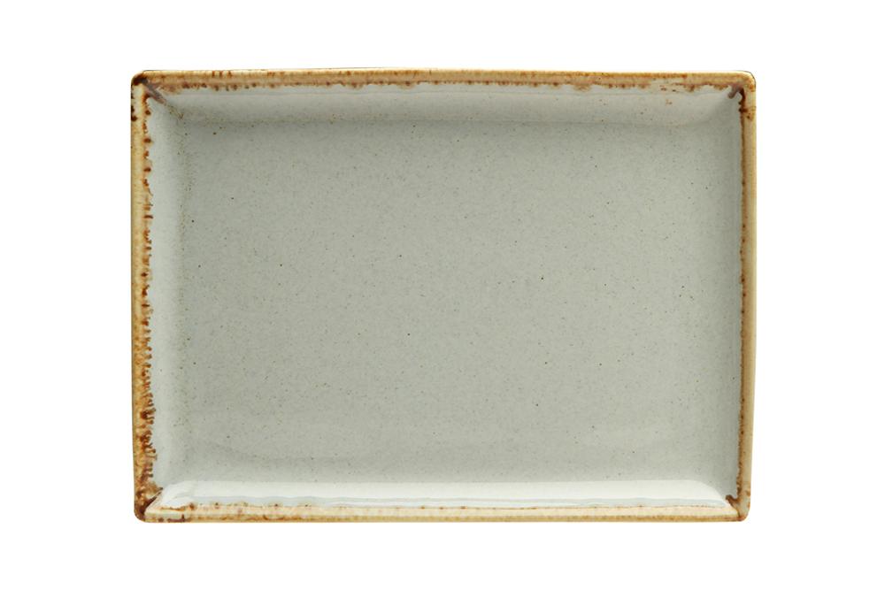 Rektangulär tallrik 18 x 13 cm Beige