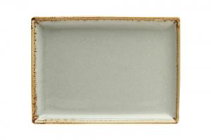 Rektangulär tallrik 18 x 13 cm Ljusgrå