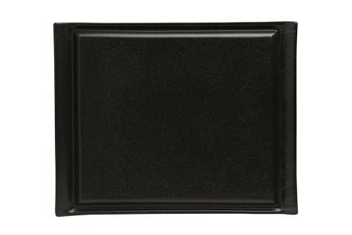Uppläggningsfat 26,5 x 32 cm svart