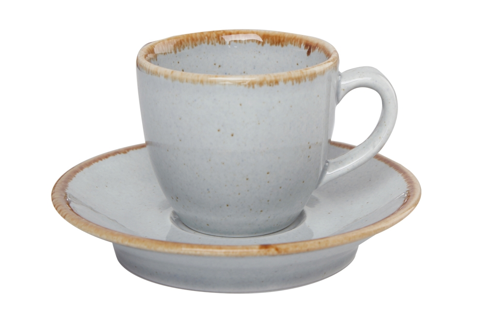 Grey Coffee Cup And Saucer