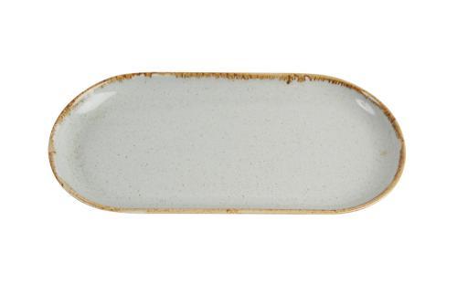 Grey Oval Plate 30Cm
